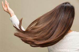 Shiny healthy hair